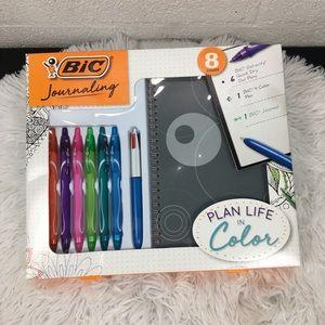 BIC Journaling Kit, Gel Pens/Ballpoint Pen/Journal